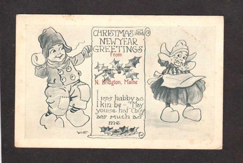 Me christmas greetings from n bridgton maine postcard signed me christmas greetings from n bridgton maine postcard signed dutch children m4hsunfo