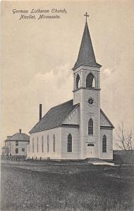 D88/ Nicollet Minnesota Mn Postcard c1910 German Lutheran Church
