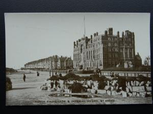 Lancashire Lytham St.Annes NORTH PARADE & IMPERIAL HYDRO Old Postcard by Leach's