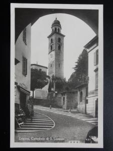 Switzerland: LUGANO, CATTEDRALE DI S. LORENZO - Old Real Photograph Postcard