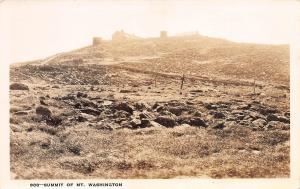 Summit of Mount Washington, New Hampshire, 1938 Real Photo Postcard, unused