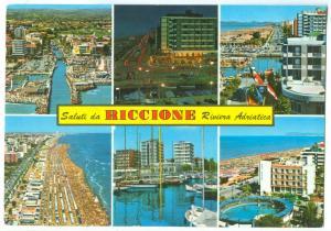 Italy, Saluti di RICCIONE, Riviera Adriatica, 1970 used Postcard