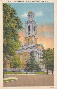North Carolina Winston Salem First Batist Church Albertype