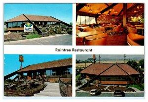 REXBURG, Idaho ID ~ Roadside RAINTREE RESTAURANT ca 1970s 4x6 Postcard