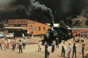 Denver & Rio Grande Narrow Gauge Passenger Train Postcard Silverton Arcade