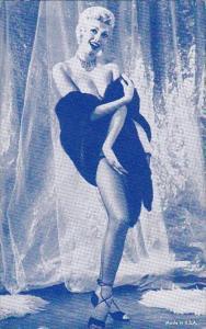 Semi Nude Risque Vintage Arcade Card Beautiful Lady Wearing Negligee Underwear