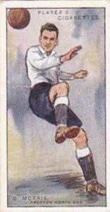 Player Vintage Cigarette Card Footballers 1928 No 32 D Morris Preston North End