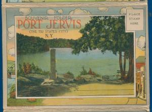 Port Jervis tri states City New York ny Postcard Folder foldout