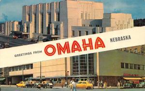 OMAHA, Nebraska   OMAHA UNION STATION-OVERLAND GREYHOUND BUS DEPOT   Postcard