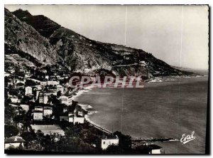 Postcard Moderne Menton Bay View Caravan and the Italian Border