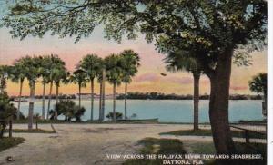 Florida Daytona View Across The Halifax River Towards Seabreeze