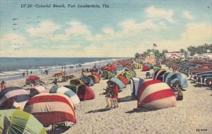 Florida Fort Lauderdale Colorful Beach 1961