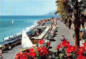 Italy Bordighera Promeande le Long de la Mer Vintage Cars Voitures
