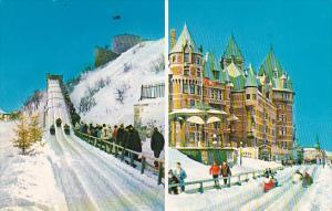 Canada Quebec La Cite Only In Winter You Can Drive At 45 M P H On Dufferin Te...