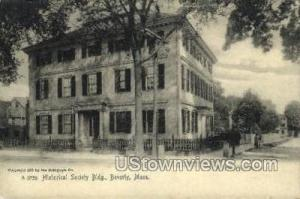 Historical Society Building Beverly MA Unused