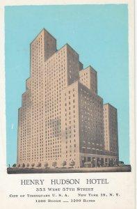 NEW YORK CITY , 1930s ; Henry Hudson Hotel