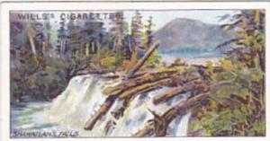 Wills Cigarette Card Overseas Dominions Canada No 18 Shawatlans Lake & Falls