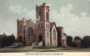 Methodist Episcopal Church, Carthage, Illinois ca 1910s Vintage Postcard