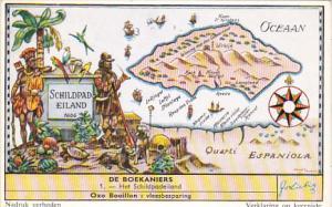 Liebig Trade Card s1684 Buccaneers No 1 Het Schildpadeiland