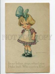 264771 Cute Girl with Kiss by TWELVETREES Vintage R&N #713
