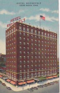 Iowa Cedar Rapids Hotel Roosevelt Curteich