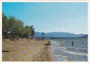 Canada British Columbia Kelowna Okanagan Lake Beach Scene