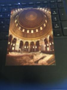Vintage Postcard: Jerusalem, Dome of the Rock from the inside