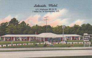 Near SUMMERTON, South Carolina, 30-40s ; Lakeside Motel