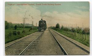 International Limited Grand Trunk Railway Canada 1909 postcard