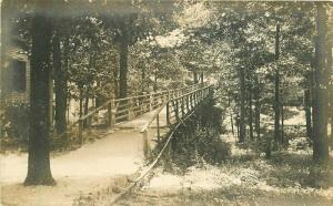 C-1910 Mont Eagle Tennessee Rustic Foot Bridge RPPC Photo Postcard 1457