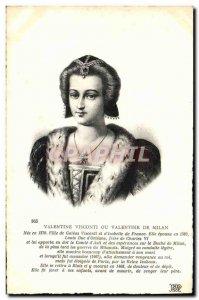 Old Postcard Valentine Visconti Or Valentine From Milan