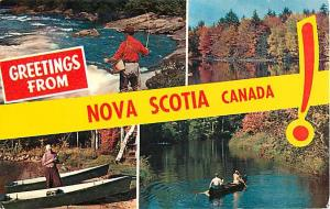 Scenic Greetings from Nova Scotia NS Canada Chrome Postcard