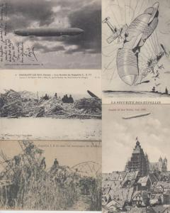 ZEPPELIN  DIRIGEABLES AIRSHIP AVIATION AIRCRAFT 25 Cartes Postales 1900-1940