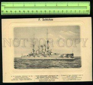 207459 GERMANY Imperial NAVY Battleship Schlesen Old poster