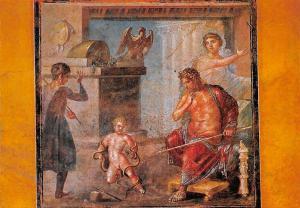 Italy Pompei Casa dei Vettii Ercole bambino che strozza i serpenti