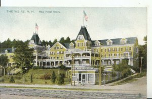 America Postcard - The Weirs - New Hampshire - New Hotel Weirs - Ref 16545A