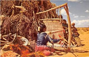 Navajo Weaver Indian Unused