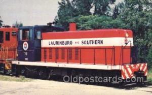 Laurinburg and Southern Railroad Train Trains Locomotive, Steam Engine,  Post...