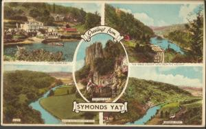 Postcard Multiview 1960 SYMONDS YAT Herefordshire by Harvey Barton & Son Ltd