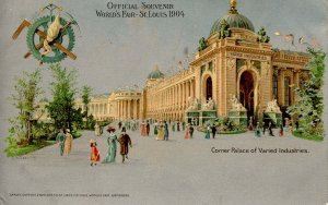 MO - St. Louis, 1904 World's Fair. Corner Palace of Varied Industries