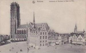 Belgium Malines Cathedrale St Rombaut et Hotel de Ville