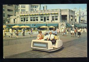 Atlantic City, New Jersey/NJ Postcard, Rolling Chairs On Boardwalk
