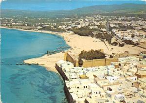 B91126 hammamet tunisia le fort et la plage vue d avion