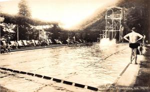 B86/ Miyanoshita Spa Japan Foreign RPPC Postcard c1920 Outdoor Pool Fujiya Hotel