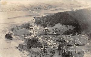 F14/ Gold Beach Oregon RPPC Postcard 1940 Birdseye View