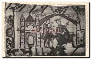 Bayeux Tapestry Postcard Old Queen Matilda King Edward the Confessor has orde...