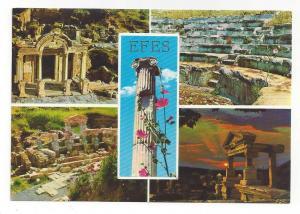 Turkey Efes Ephesus Multiview Greco Roman Ruins Vtg Postcard