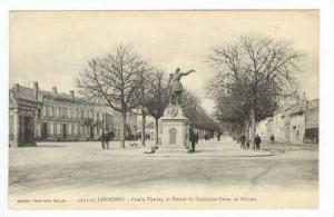 Cours Tourny et Statue du Capitaine Oscar de Geraux, Gironde, Libourne, Franc...