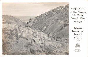 F50/ Jerome Prescott Arizona RPPC Postcard c40s Hull Canyon Curve
