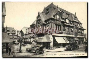 Old Postcard Deauville Normandy Hotel Entree Rue Gontaut Biron Automotive